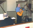 Peter Schoonmaker, accompanied by Steve Martorella, provided the special music at morning worship on January 23rd