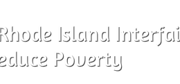 RI Interfaith Coalition to Reduce Poverty